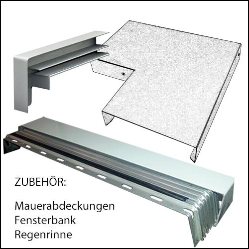 BLECH-X-PERT, Zubehör Fensterbank, Mauerabdeckung, Regenrinne